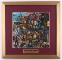 "Thomas Kinkade Walt Disney's ""Pirates of the Caribbean"" 17.5x18 Custom Framed Print Display at PristineAuction.com"