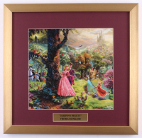 "Thomas Kinkade Walt Disney's ""Sleeping Beauty"" 17.5x18 Custom Framed Print Display at PristineAuction.com"