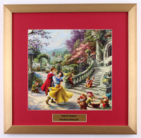 "Thomas Kinkade Walt Disney's ""Snow White & The Seven Dwarfs"" 17.5x18 Custom Framed Print Display at PristineAuction.com"