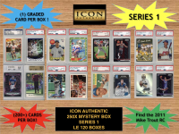 Icon Authentic 250x Series 1 Mystery Box (250+ Cards per Box) at PristineAuction.com