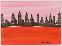 "Henry Hill Signed ""NY City Skyline"" 11x15 Painting Inscribed ""2012"" (Beckett COA) at PristineAuction.com"
