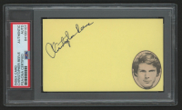Christopher Reeves Signed 3x5 Index Card (PSA Encapsulated) at PristineAuction.com
