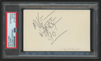 "Axl Rose Signed 3x5 Index Card Inscribed ""90"" (PSA Encapsulated) at PristineAuction.com"