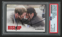 Andrew Lincoln Signed 2018 The Walking Dead Road to Alexandria Rise Up #RU6 His Own Medicine (PSA Encapsulated) at PristineAuction.com