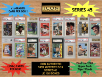 Icon Authentic 100x Series 45 Mystery Box (100+ Cards per Box) at PristineAuction.com