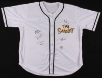 """The Sandlot"" Jersey Cast-Signed by (6) with Tom Guiry, Chauncey Leopardi, Marty York, Victor Di Mattia with Inscriptions (JSA COA) at PristineAuction.com"