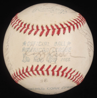 "1977 New York Yankees OAL Baseball Team-Signed by (17) with Thurman Munson, Reggie Jackson, Jim ""Catfish"" Hunter, Chris Chambliss, Art Fowler (Beckett LOA) at PristineAuction.com"