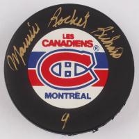 "Maurice ""Rocket"" Richard Signed Montreal Canadiens Logo Hockey Puck (Beckett COA) at PristineAuction.com"