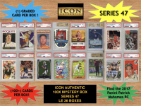 Icon Authentic 100x Series 47 Mystery Box (100+ Cards per Box) at PristineAuction.com