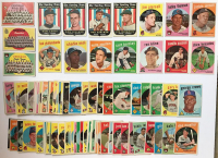 Lot of (90) 1959 Topps Baseball Cards with #94 Chicago White Sox Team Card, #397 W. Senators Team Card, #304 Chicago Cubs Team Card, #429 Bobby Thomson, #355 J.Piersall at PristineAuction.com