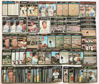 Lot of (100)+ 1971 Topps Baseball Cards with (2) 206 CL 3rd series, (2) #325 J. Marichal, (2) #361 D. Sutton, (3) #350 B. Williams, #220 R. Santo at PristineAuction.com