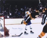 """Bobby Orr Signed Bruins """"The Flying Goal"""" 16x20 Photo (Orr COA) at PristineAuction.com"""