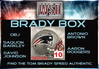 "WSD ""Brady Box"" Mystery Full-Size Helmet Box - Autographed Football Hemet Series - 10 (Find the Tom Brady Speed Authentic!) at PristineAuction.com"