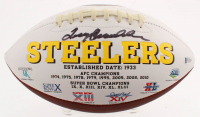 Terry Bradshaw Signed Pittsburgh Steelers Logo Football (Beckett COA) at PristineAuction.com