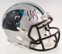 Christian McCaffrey Signed Carolina Panthers Speed Mini Helmet (Beckett COA) at PristineAuction.com