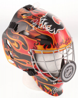 David Rittich Signed Calgary Flames Full Size Goalie Mask (JSA COA) at PristineAuction.com