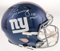 """Eli Manning Signed Giants Full-Size Authentic On-Field Speed Helmet Inscribed """"SB MVP"""" (Fanatics Hologram) at PristineAuction.com"""