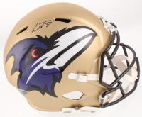 Lamar Jackson Signed Baltimore Ravens Full-Size AMP Alternate Speed Helmet (JSA COA) at PristineAuction.com