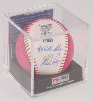 """Nolan Ryan Signed 2017 Home Run Derby Logo OML Baseball with Display Case Inscribed """"8x All Star"""" (PSA COA - Graded 9) at PristineAuction.com"""