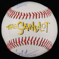 """""""The Sandlot"""" Logo Baseball Cast-Signed By (5) with Tom Guiry, Chauncey Leopardi, Marty York, Victor Di Mattia with Multiple Inscriptions (JSA COA) at PristineAuction.com"""