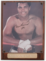 Muhammad Ali Signed 9x12 Photo Plaque (Beckett LOA) at PristineAuction.com