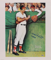 "Brooks Robinson Signed Baltimore Orioles 18x21.25 Print Inscribed ""HOF 83"" (Beckett COA) at PristineAuction.com"