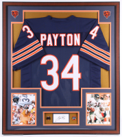 Water Payton Signed Chicago Bears 32x36 Custom Framed Cut Display (PSA) at PristineAuction.com