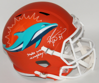 "Ricky Williams Signed Miami Dolphins Full-Size AMP Alternate Speed Helmet Inscribed ""Smoke Weed Everyday!"" (Schwartz COA) at PristineAuction.com"