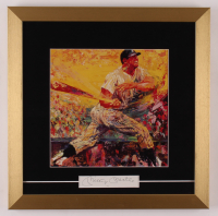 Mickey Mantle Signed 16x16 Custom Framed Cut Display (JSA LOA) at PristineAuction.com