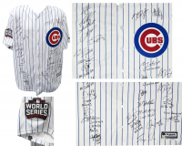 2016 World Series LE Chicago Cubs Jersey Team-Signed by (26) with Kris Bryant, Anthony Rizzo, Ben Zobrist, Theo Epstein, Javier Baez (Schwartz COA & Fanatics Hologram) at PristineAuction.com