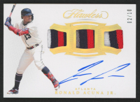 Ronald Acuna Jr. 2019 Panini Flawless Triple Patch Signatures Gold #6 at PristineAuction.com