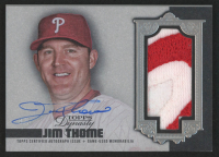 Jim Thome 2019 Topps Dynasty Autograph Patches Silver #APJT at PristineAuction.com