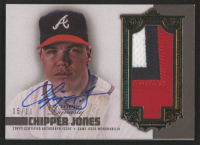 Chipper Jones 2019 Topps Dynasty Autograph Patches #APCJ at PristineAuction.com