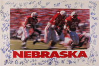 1998 Nebraska Cornhuskers 24x36 Poster Team-Signed by (64), with Tom Osborne, Ahman Green, Correll Buckhalter, Kris Brown, Eric Crouch with Multiple Inscriptions (Beckett LOA) at PristineAuction.com