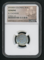 Spanish Colonial 1 Real Silver Shipwreck Coin from the El Cazador (NGC Encapsulated) at PristineAuction.com