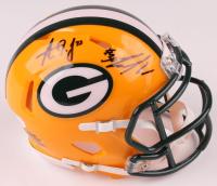 Jamaal Williams & Aaron Jones Signed Green Bay Packers Speed Mini Helmet (JSA COA) at PristineAuction.com