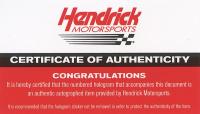 Alex Bowman Signed NASCAR #88 Valvoline 2019 Camaro - 1:24 Premium Action Diecast Car (Hendrick Hologram & COA) at PristineAuction.com