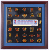 1992 NBA All-Star Game LE 14x14 Player Pin Set Display at PristineAuction.com
