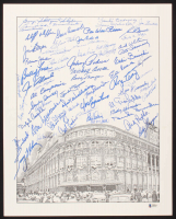 Brooklyn Dodgers Ebbets Field 16x20 Print Signed by (64) with Pee Wee Reese, Duke Snider, Don Newcombe, Ralph Branca, Billy Herman (Beckett LOA) at PristineAuction.com