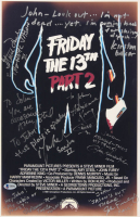 """""""Friday The 13th Part 2"""" 11x17 Movie Poster Print Signed by (8) with Adrienne King, John Furey, Kirsten Bake, Marta Kober, Bill Randolph, Lauren-Marie Taylor with Multiple Inscriptions (Beckett LOA) at PristineAuction.com"""