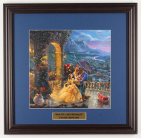 "Thomas Kinkade Walt Disney's ""Beauty and the Beast"" 18x18.5 Custom Framed Print Display at PristineAuction.com"