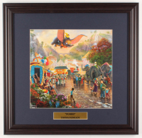 "Thomas Kinkade Walt Disney's ""Dumbo"" 18x18.5 Custom Framed Print Display at PristineAuction.com"
