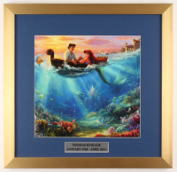 "Thomas Kinkade Walt Disney's ""The Little Mermaid"" 17.5x18 Custom Framed Print Display with Pin at PristineAuction.com"