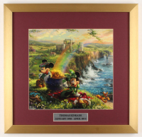 "Thomas Kinkade Walt Disney's ""Mickey & Minnie Mouse"" 17.5x18 Custom Framed Print Display at PristineAuction.com"