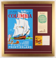 Disneyland Frontierland 22x23 Custom Framed Print Display with Postcard & Brochure at PristineAuction.com