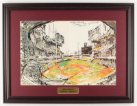 "LeRoy Neiman ""Sandy Koufax Vs. Mickey Mantle"" 19x25 Custom Framed Print Display at PristineAuction.com"