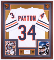 Walter Payton Signed Chicago Bears 32x36 Custom Framed Cut Display (PSA) at PristineAuction.com