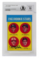 Pete Rose Signed 1963 Topps #537 Rookie Stars RC Reprint (BGS Encapsulated) at PristineAuction.com