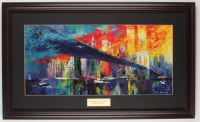 "LeRoy Neiman ""The Brooklyn Bridge"" 17x28 Custom Framed Print Display at PristineAuction.com"