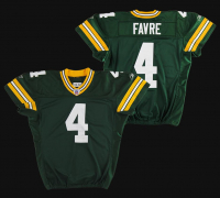 Brett Favre Green Bay Packers Game-Used Jersey (Hankel LOO) at PristineAuction.com